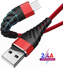 2.4A USB Fast Charging Type C Cable Charger Charge Micro USB Cable Mobile Phone Cable USB Cord For Samsung S21 Huawei Xiaomi LG