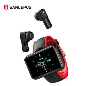 Image 1 - 2021 NEW SANLEPUS Smart Watch Men Women Smartwatch With Wireless Headphones Bluetooth Headphones Earbuds Sport Fitness Bracelet