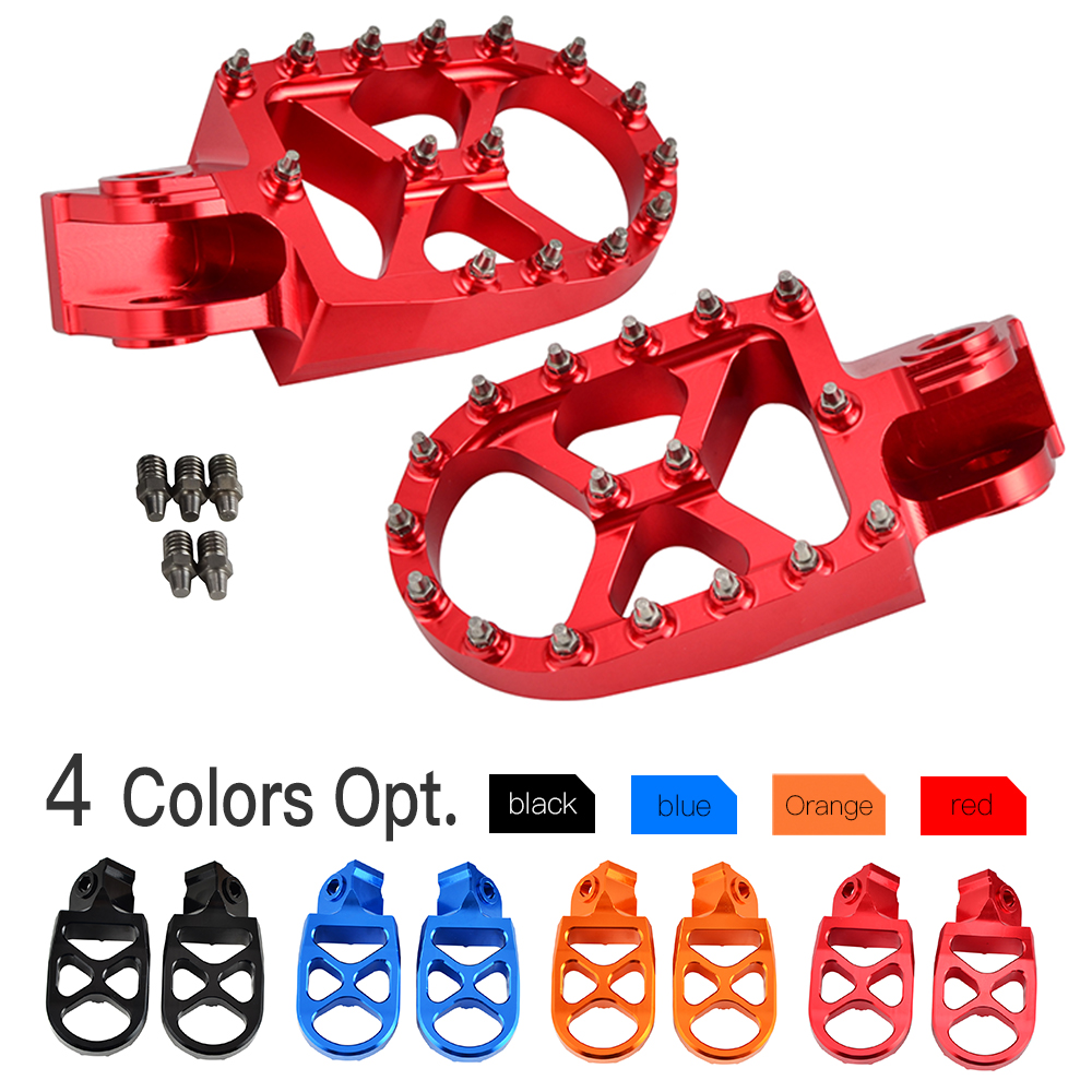 Foot Pegs CNC Fat Wide Motorcycle For <font><b>Beta</b></font> <font><b>RR</b></font> 4T <font><b>350</b></font> 390 400 430 450 480 498 520 2T 125 250-300 X Trainer 250/300 image