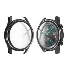 Luxe Plating Volledige Cover Voor Huawei Smart Horloge Gt 2 2E GT2 GT2E 46 Mm 46 Mm Beschermhoes Glazen screen Protector Accessoires