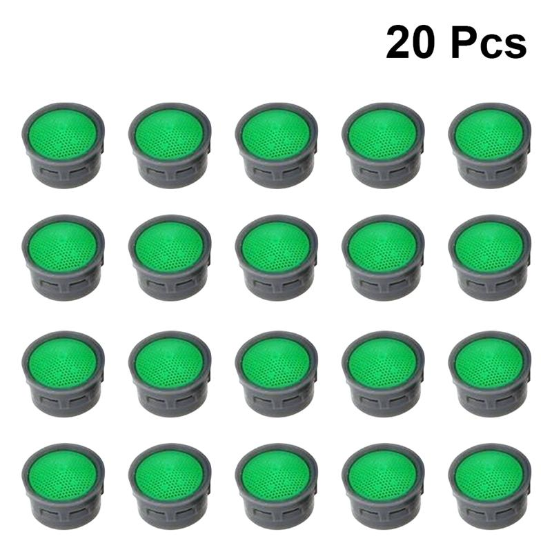20 PCS Faucet Bubbler 21MM Outer Diameter ABS Durable Replacement Part Faucet Aerators Water Saving Filter For Kitchen Bathroom