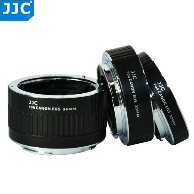 Jjc anel adaptador, 12mm 20mm 36mm af macro extensor de tubo de anel para câmera canon ef EF S 760d 750d 700d 650d 600d 550d 70d 7d 5d markiii