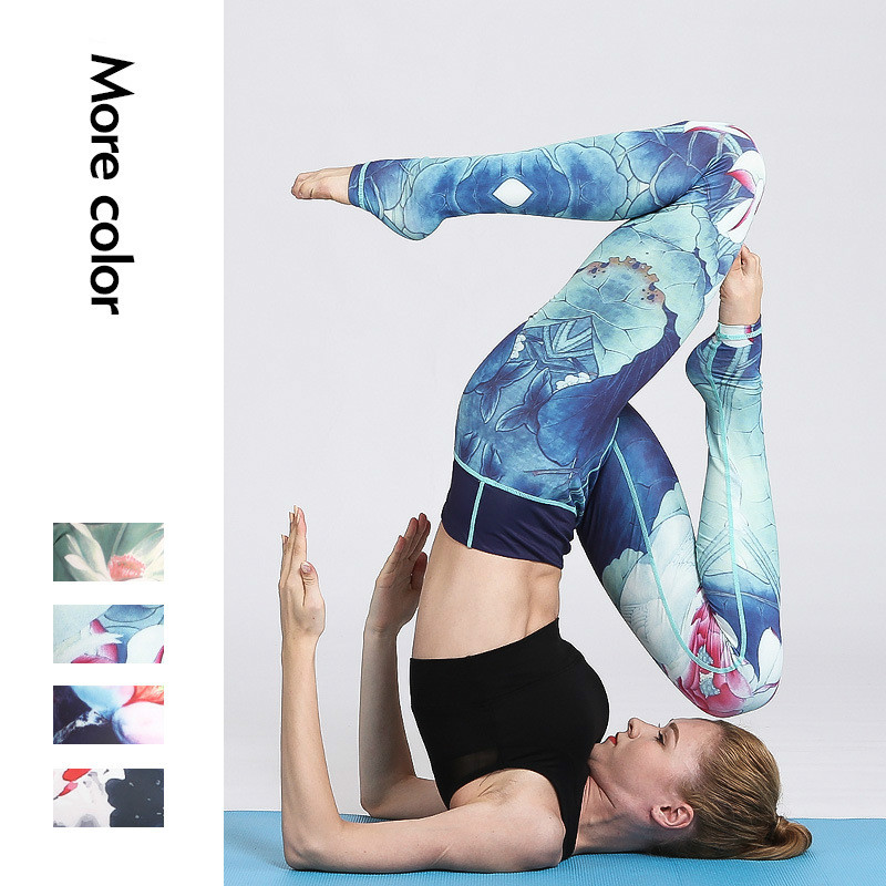 Leggings Sport Women Fitness High Waist Printed Legging Womens Push Up Elasticity Running Sportswear Females Leggins Workout