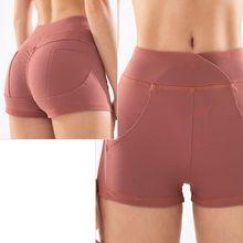 Для женщин шорты для йоги, для бега Фитнес штаны марафон Спортивные шорты быстросохнущие пляжные штаны для спортзала, тренировки
