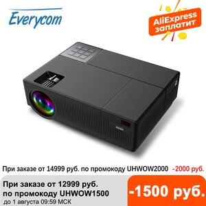 Image 1 - Everycom M9 CL770 Inheemse 1080P Full Hd 4K Projector Led Multimedia Systeem Beamer 6800 Lumen Auto Keystone Thuis cinema Speaker * 2