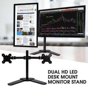 Регулируемая подставка для ноутбука с двойным экраном, вращение на 360 градусов, настольная подставка для монитора, отдельно стоящая двойная...