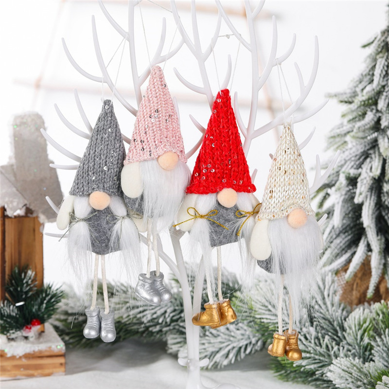 Faceless Doll Pendants Christmas Tree Decoration Hanging Leg Ornaments Crafts Gifts Xmas New Year Party Wedding Home Decor 63276