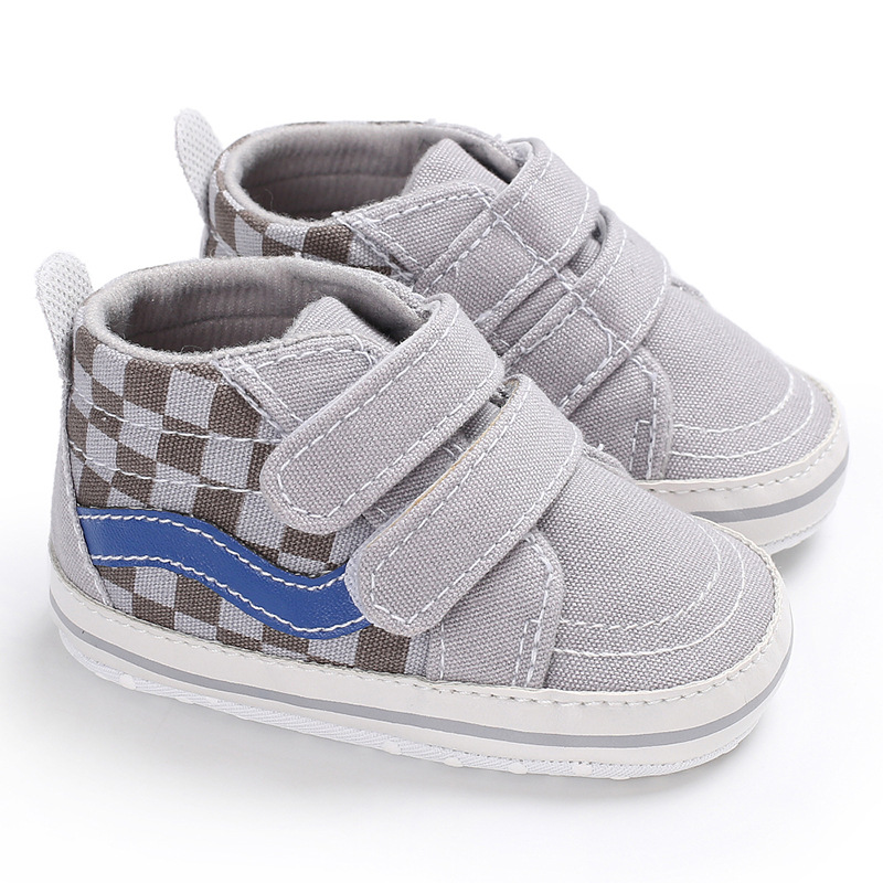 Triursus Brand Designer Baby Boys Girls Canvas Shoes Spring Autumn Baby Casual Shoes Soft Sole First Walkers Plaid Baby Sneakers