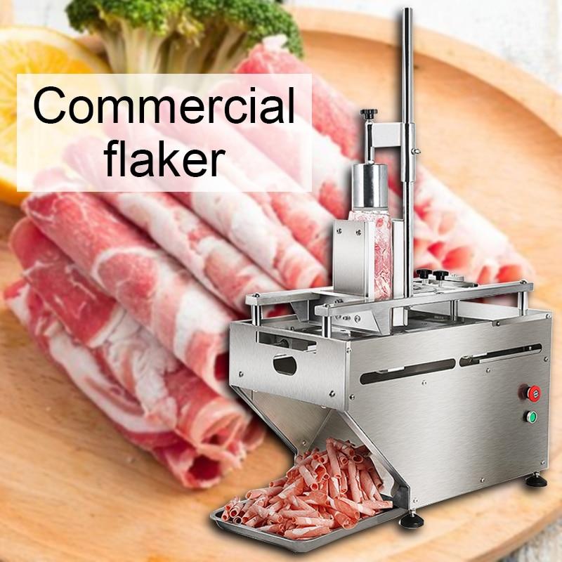 400 Вт рулон баранины слайсер коммерческий Электрический говяжьего мяса слайсер Автоматическая строгальная машина для мяса настольная