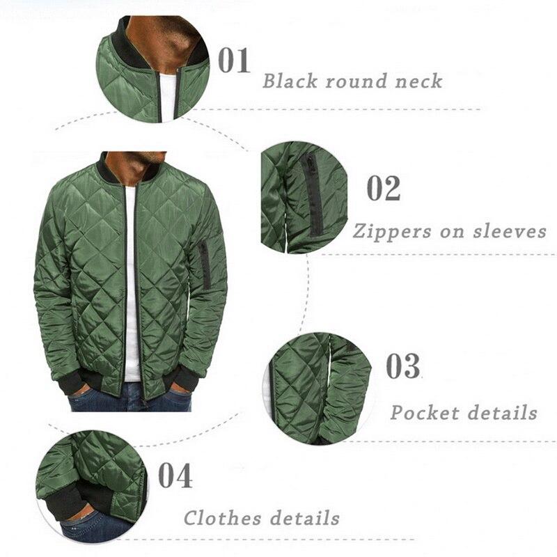 Hf42b604a637d4658bd70756cbcba883dk 2019 Autumn Winter Jacket Men Warm Coats Streetwear New Male Lightweight Windproof Packable Jacket hip hop baseball Coat Outwear