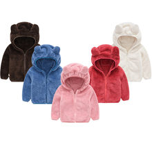 OEAK Autumn Baby Jackets Hooded Boy Coats Toddler Girls Thick Teddy Bear Colthes Children's Jackets Boys and Girls Top(China)