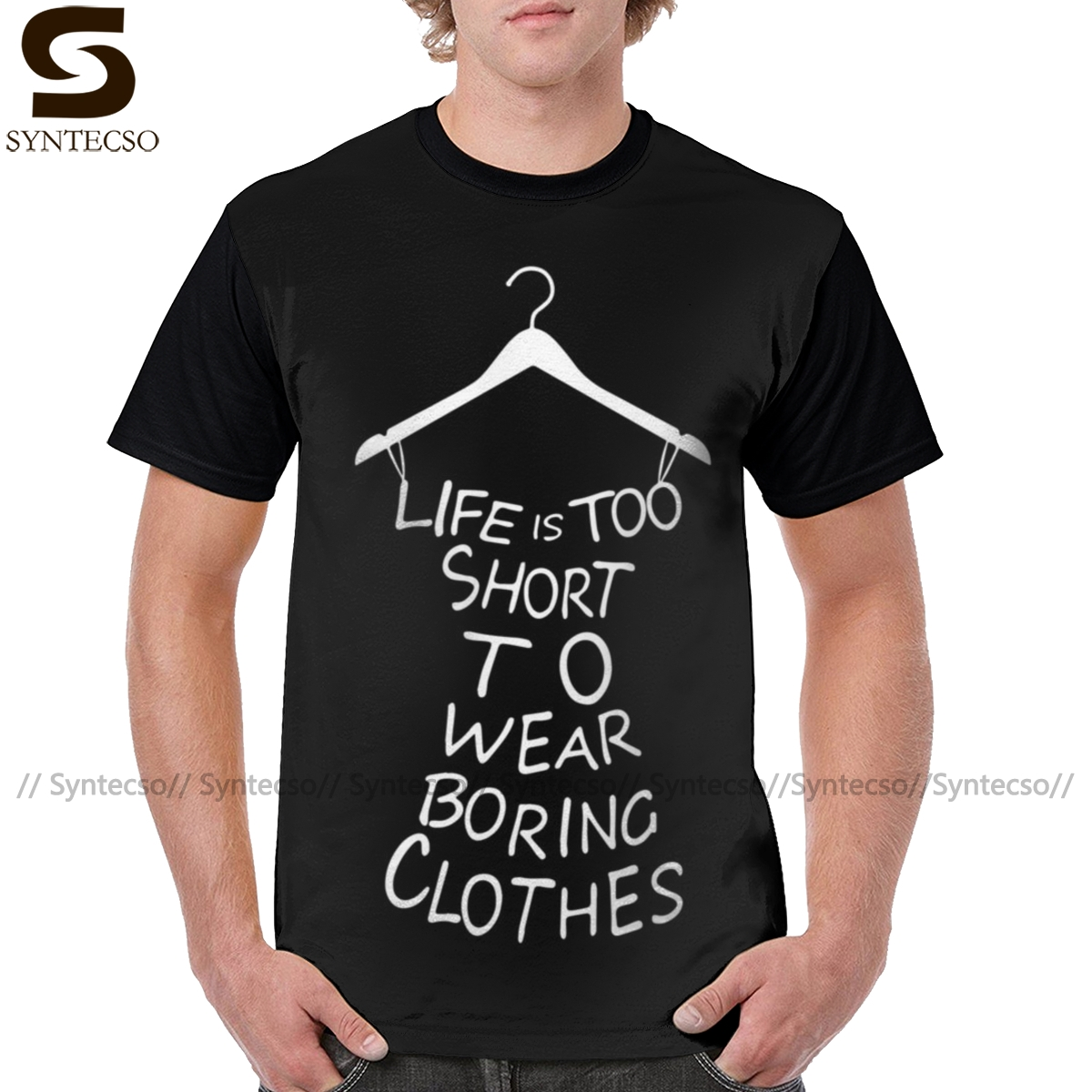 Life Is <font><b>Boring</b></font> <font><b>T</b></font> <font><b>Shirt</b></font> Life Is Too Short <font><b>T</b></font>-<font><b>Shirt</b></font> Mens Funny Tee <font><b>Shirt</b></font> Fashion Print Graphic Tshirt image