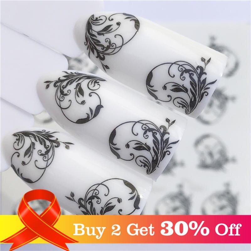 Lcj 32 estilos disponíveis flor adesivos de unhas de transferência de água decalques decoração sonho cather slider para unhas diy dicas