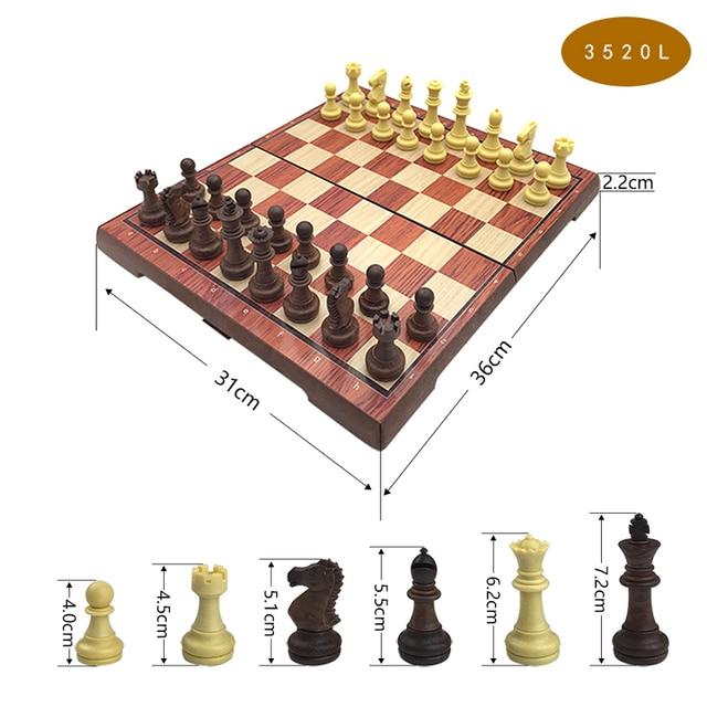 Jeu de société magnétique International, jeu d'échecs exquis, pliable en plastique, cadeau et divertissement 4