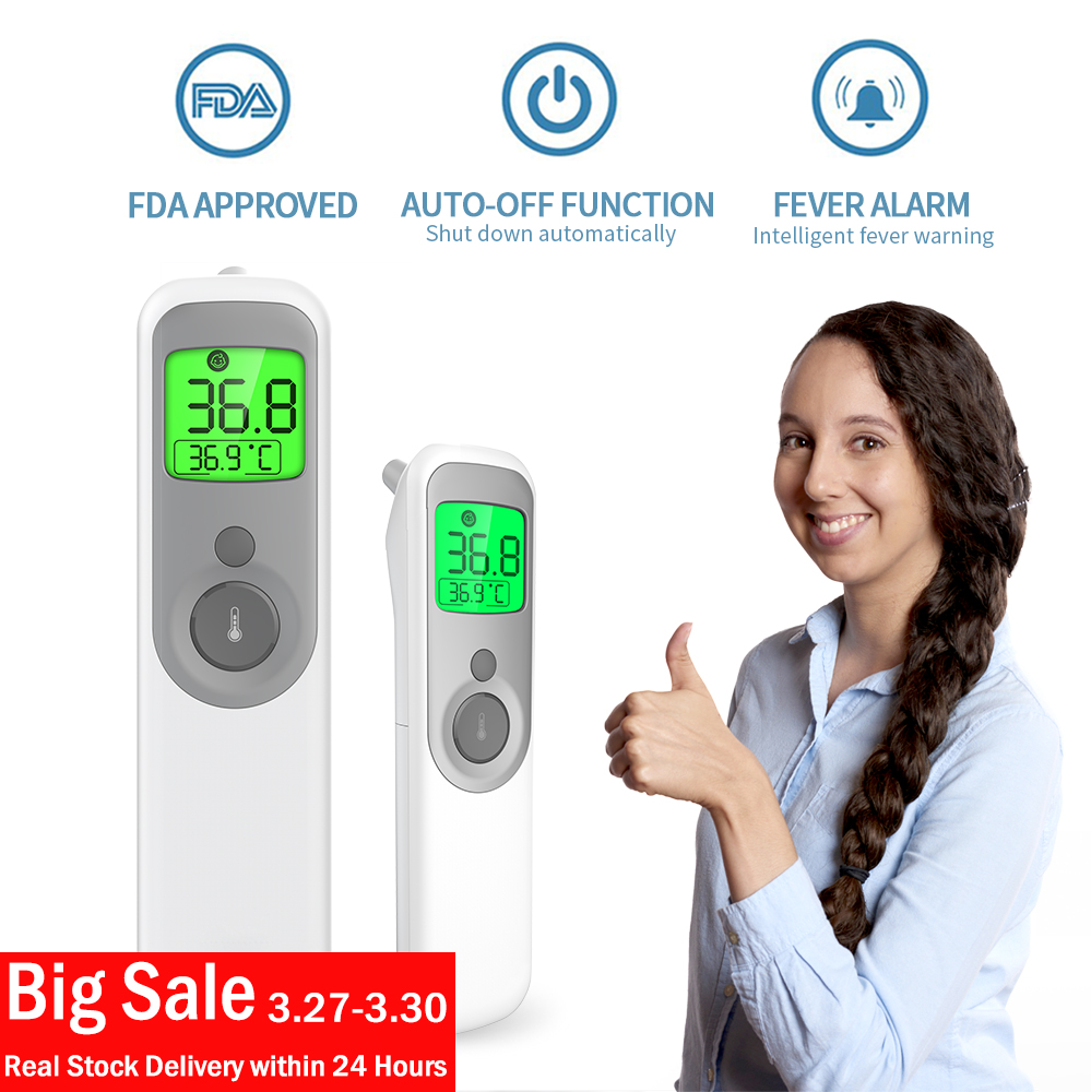 Ship In 24 Hours Medical Electronic Non-contact Infrared Baby Adult Forehead Ear Body Temperature Measuring Celsius Thermometer
