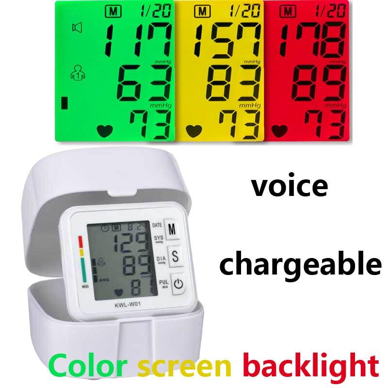 Blutdruckmessgerät tragbare Handgelenk blutdruck monitor tonometer Maschine saint gesundheit medizinische ausrüstung BP Herz Rate meter