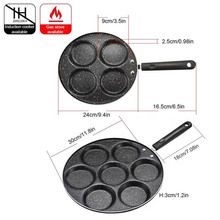 Four-hole Frying Pot Thickened Omelet Pan