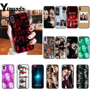 Yinuoda Spanish TV Series Elite Soft Silicone Black Phone Case For iPhone 8 7 6 6S Plus X XS MAX 5 5S SE XR 11 11pro promax