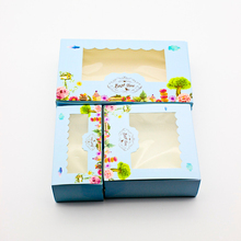 50 PCS Paper Gift Box Wedding Candy Cookie Sweet Cake Boxes With Window Flower Party Kids Birthday Favors