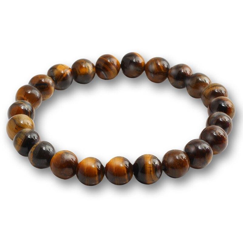 Image 3 - 6/8/10 mm Tiger Eye Natural Beaded Bracelet Prayer Female  Pulseira bracelsts