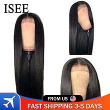 Long Straight 13X6 HD Transparent Lace Frontal Wigs For Women ISEE HAIR Lace Closure Wig 5X5 Straight Lace Front Human Hair Wigs