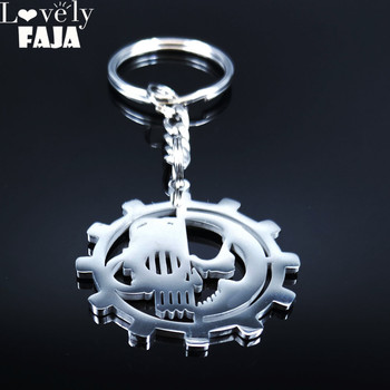 2021 Adeptus Mechanicus 40k 40000 Stainless Steel Key Chains Men/Women Army Lot Ork Tau Jewelry llavero mujer K3001S03 image