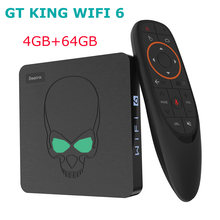 Beelink GT-King WIFI 6 Смарт ТВ-приставка Amlogic S922X Android 9,0 DDR4 4 Гб 64 Гб 1000 м приставка 2,4G/5G двойной Wifi 4K медиаплеер