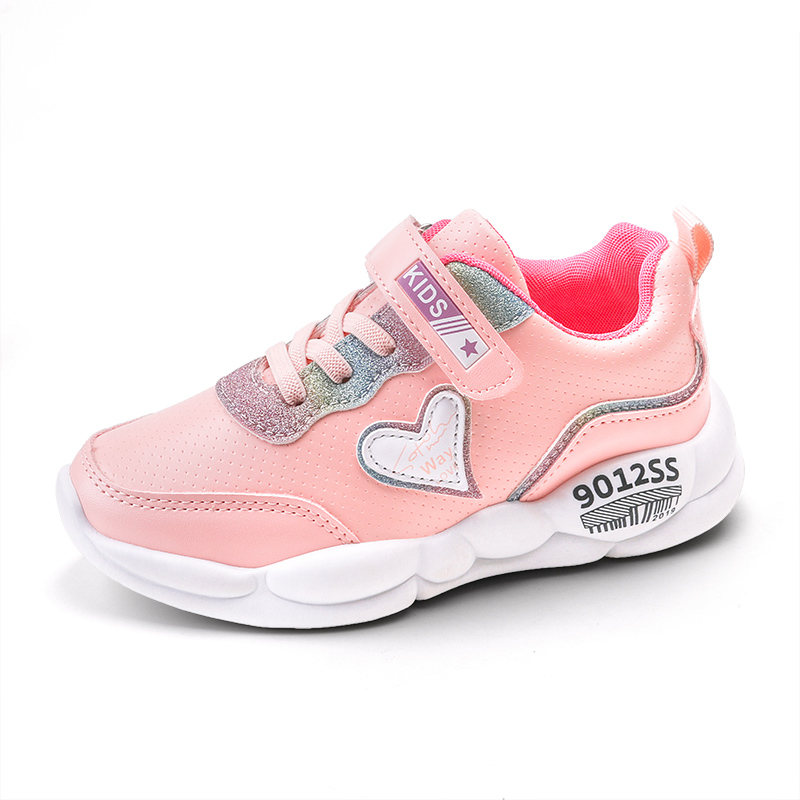 Girls Shoes Kids Sport Shoes For Big Girls Sweet Sneakers Pu And Mesh Autumn Winter Comfortable Running Shoe SC129