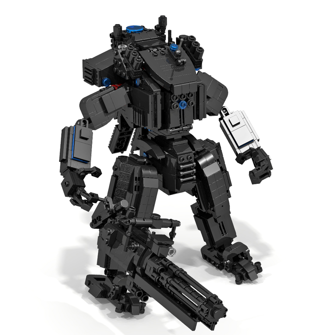 Building-Blocks Mecha Bricks Educational-Toy-Set MOC with Predator Rotation Blaster 1378pcs
