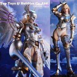 Set completo 1/6 Lucifero LXF1703 Ali di Alba Armatura Costume Spada Ver/Angelo Ver 12 Action Figure Cosplay arma per raccolta Fan
