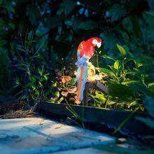Солнечный садовый светильник, уличный водонепроницаемый попугай, светодиодный Сказочный светильник, садовый декор, пейзаж, ночная лампа в форме животного