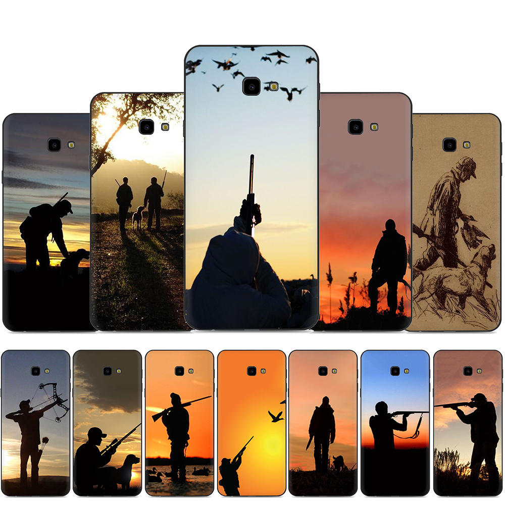 Hunter <font><b>Dog</b></font> hunting Soft Silicone phone <font><b>case</b></font> for <font><b>Samsung</b></font> A2 Core A20E A70s J4 J6 Plus Prime <font><b>J7</b></font> DUO J8 image
