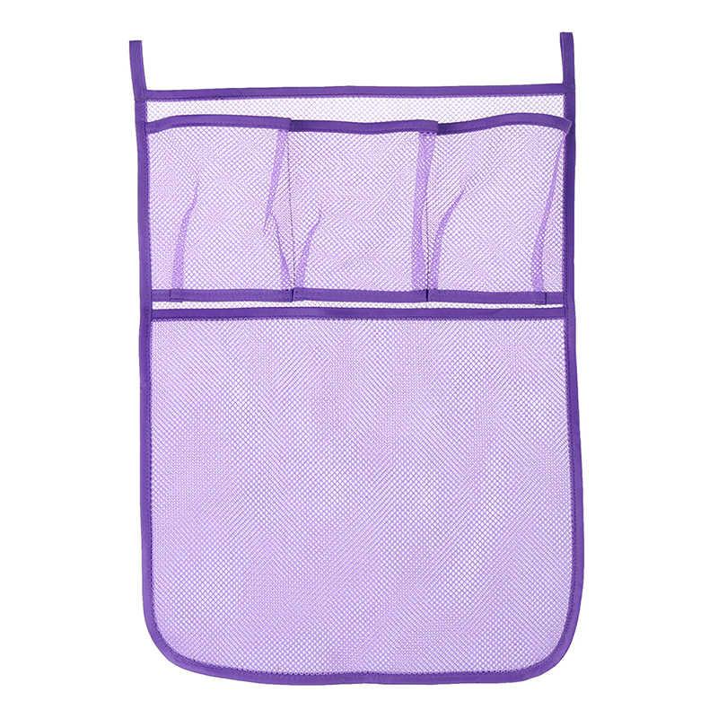 1 unidad de tela de malla para cama de bebé bolsa de almacenamiento para colgar, bolsa de pañales de juguete organizadora de cuna para cama cuna