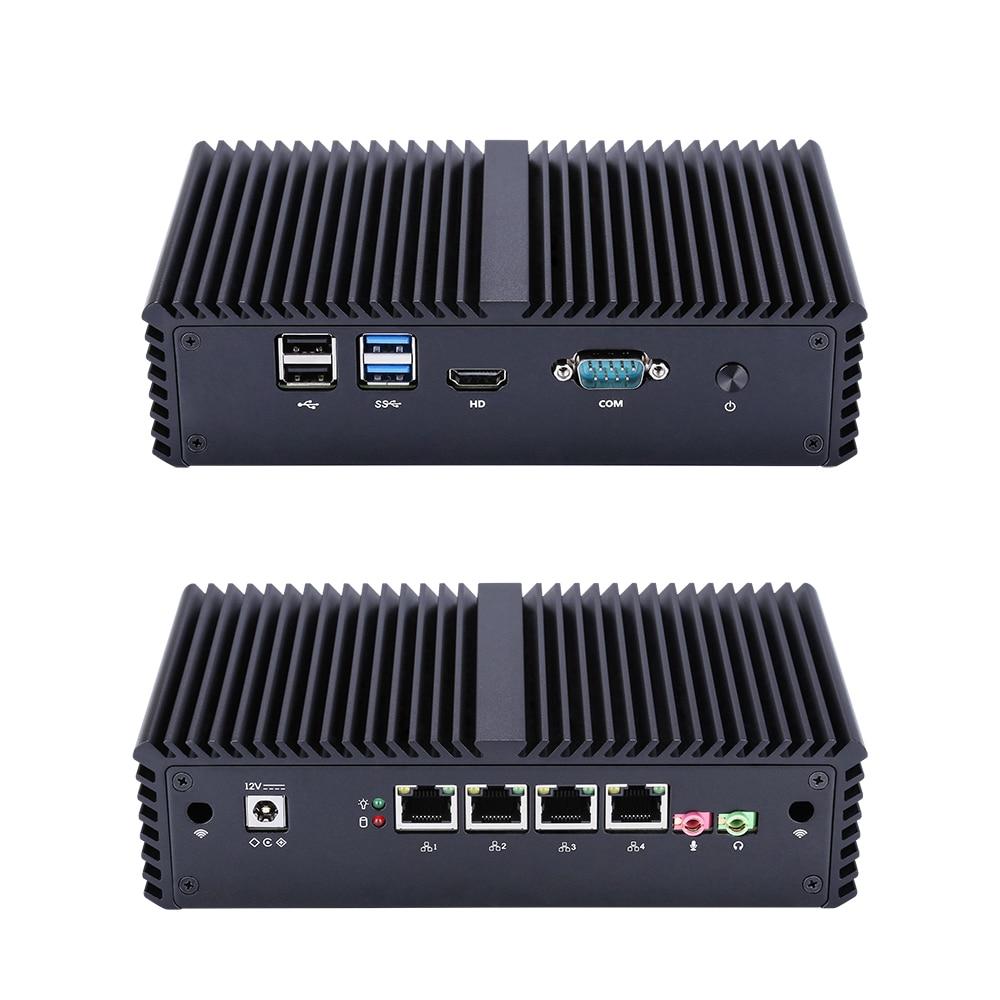 Fanless Mini PC 4 Gigabit Lan Ethernet NIC Core I3 Security AES-NI Qotom Router Pfsense Firewall