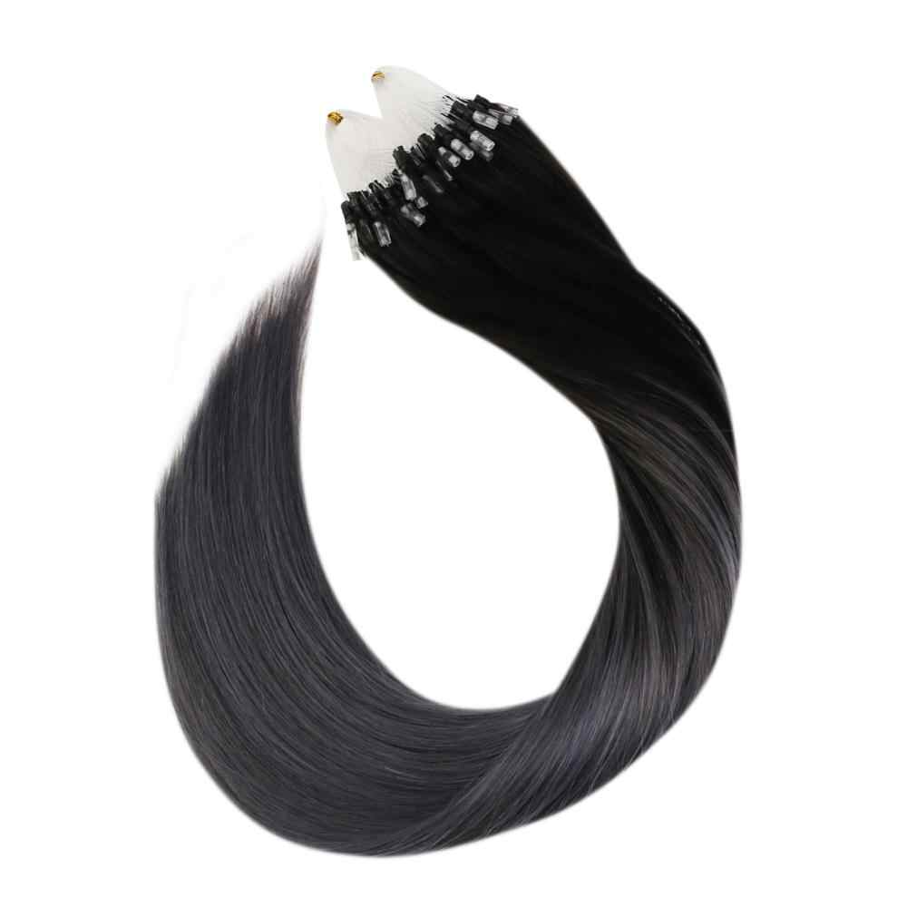 Micro Loop Human Hair Extensions Balayage Ombre Kleur Machine Remy Haar 14-24 Inch Micro Ring Hair Extensions 50G/50 S 1G/1 S Set