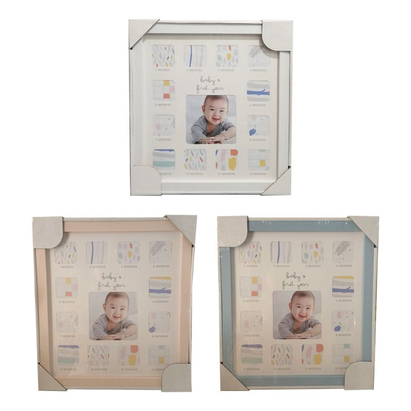 Baby 12 Months Commemorate Photo Frame Multi-function Wall Hanging Ornament Size: App.31 X 34 Cm