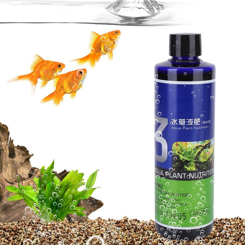 Fish Bowl High-enriched Nutrition Water Plant Liquid Fertilizer Nutrient Solution for Fish Tank Aquarium 260ml Aquarium Plants
