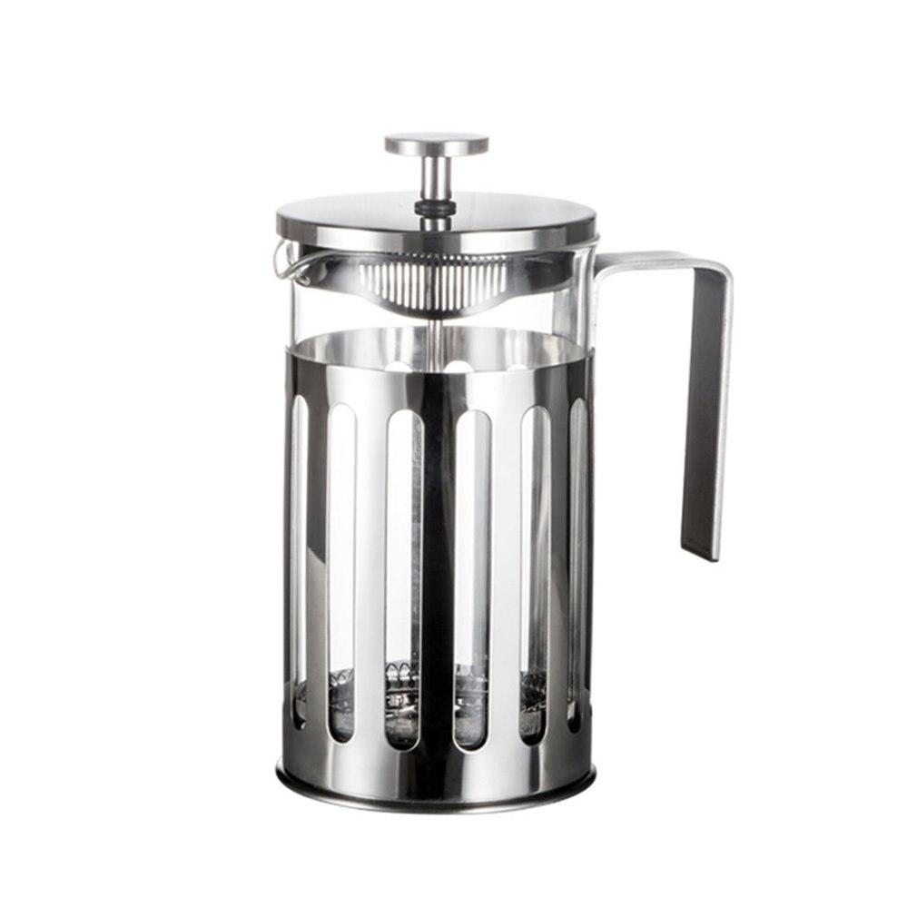 Нержавеющая сталь Френч-пресс для приготовления кофе кофейник Percolator инструмент изолированный кофе чай пивной горшок с фильтром корзины
