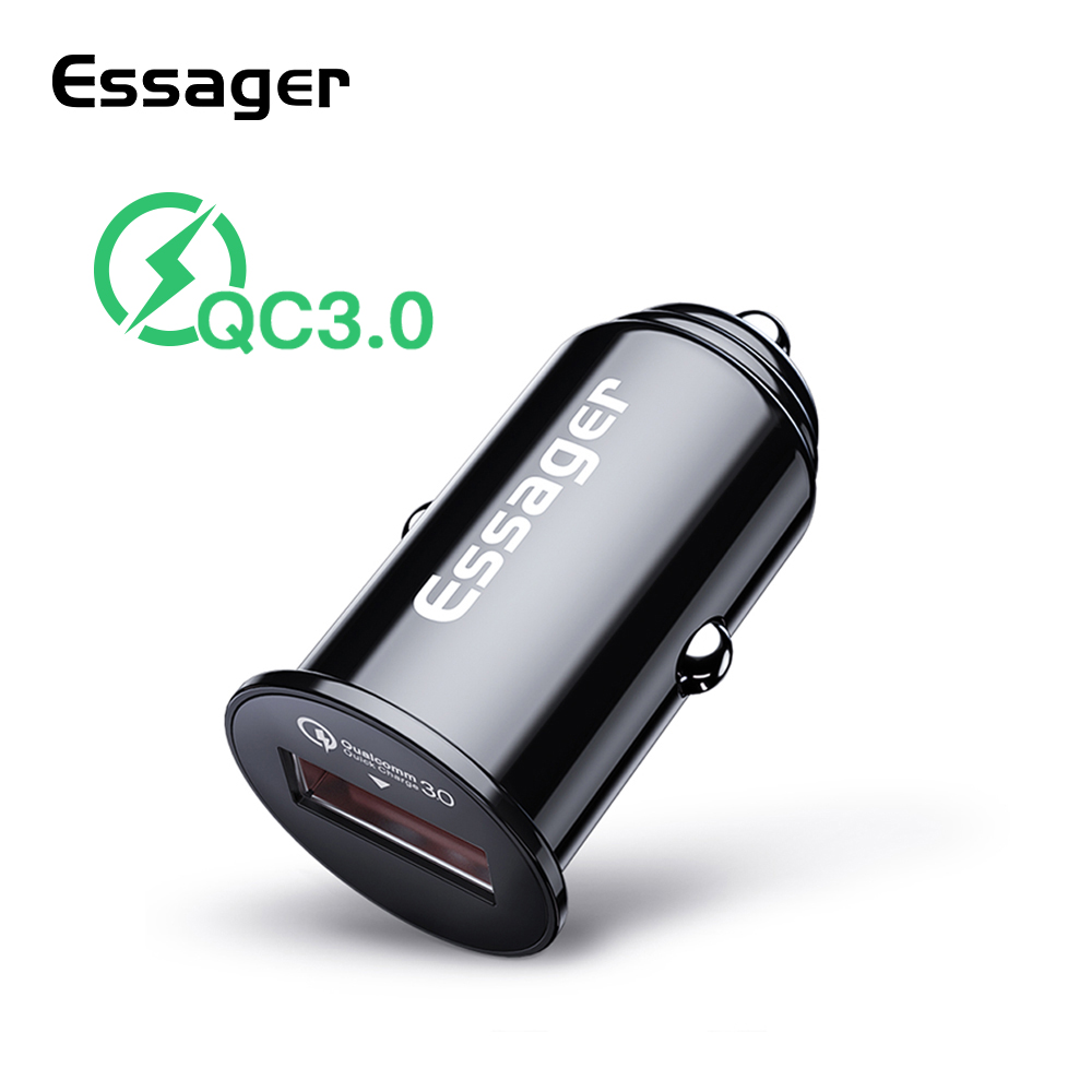 Essager Car-Charger Mini QC3.0 IPhone Xiaomi Samsung For Fast