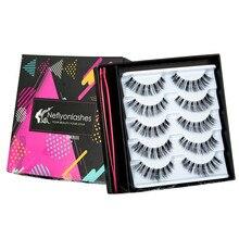 5 Pairs 3D Soft Faux Mink Hair False Eyelashes Hot Sell Full Strip Eyelash Natural Wispy Fluffy Lashes Extension Eye Makeup Tool