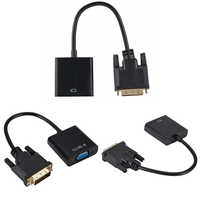DVI macho a VGA hembra adaptador/convertidor de vídeo DVI 24 + 1 25 Pin DVI-D a Cable adaptador VGA para TV PS3 PS4 pantalla de PC 1080P