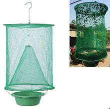 1PCS Hanging Fly Catcher Killer Summer Pest Control Reusable Fly Trap Zapper Fly Catcher Cage Net Trap Garden Home Yard Supplies economy fruit fly trap killer fly catcher with attractant insect fly trap pest control garden supplies
