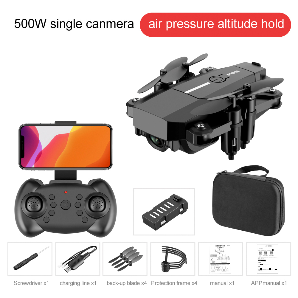 F86 1080P Video Full HD Camera RC Drone FPV 2 4G WIFI Professional Quadcopter Helicopter One Key Return Realtime Transmission