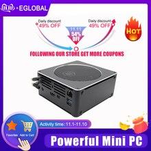 EGLOBAL למעלה משחקי מחשב Intel Core i9 i7 8850H 6 Core 12 אשכולות 2 * M.2 NVME SSD + 1*2.5 SATA מיני מחשב Win10 פרו HDMI AC WiFi BT