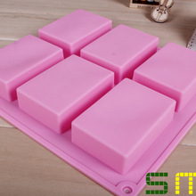 Pastry-Molds Soap-Moulds Cake-Bakeware-Mold Silicone 6-Lattice 100ml Rectangular Wholesale