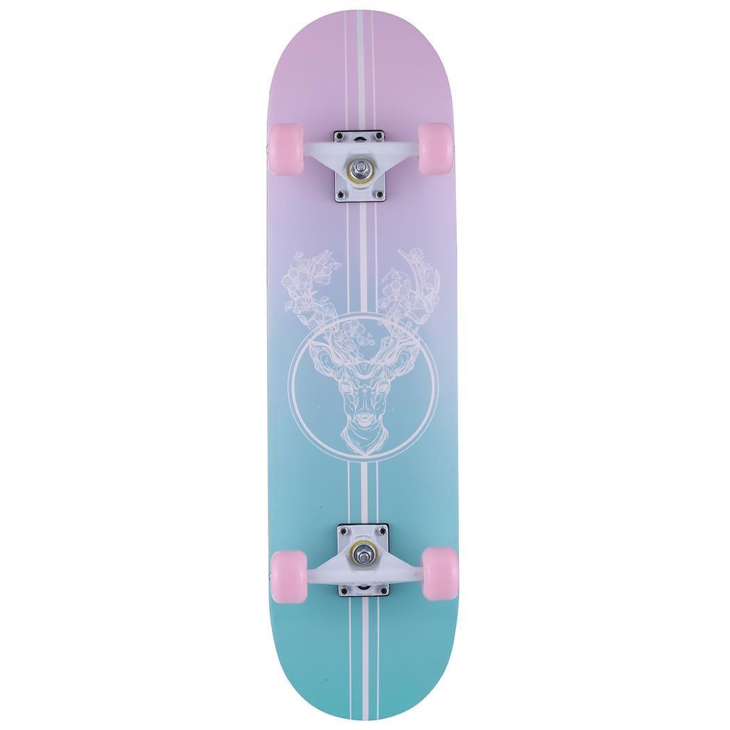 Complete Skate Boards Adult Teens Girls Boys Maple Skateboard for Beginners Aluminum Alloy Anti-Slip Surface Design 5