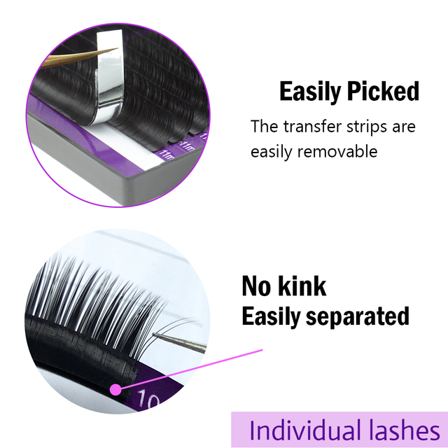 NAGARAKU 16Rows Faux lash individual eyelash extension lashes maquiagem cilios  for professionals soft natural eyelash extension 2