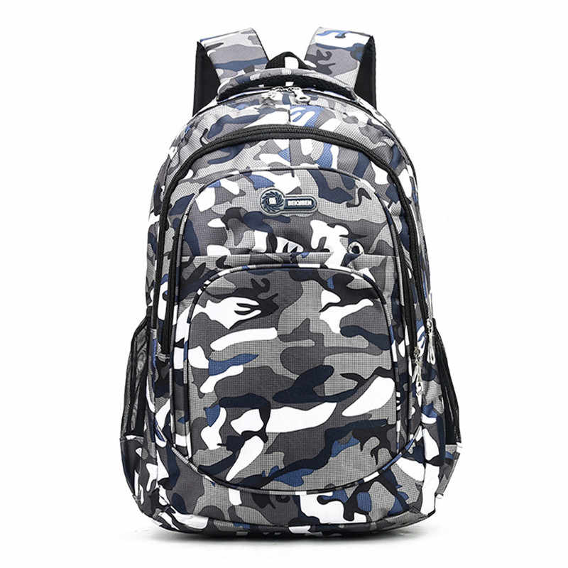 SHUJIN 2 Sizes Girls Boys Children Backpack Kids Book Bag Camouflage Waterproof School Bags Mochila Escolar Schoolbag