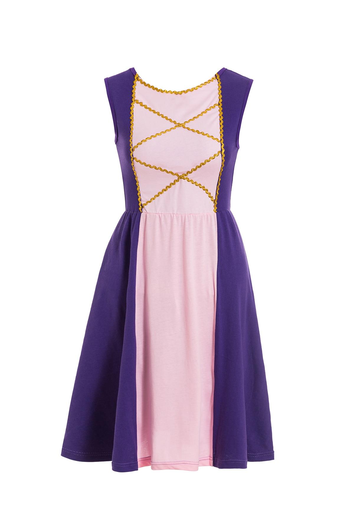 Платье принцессы для взрослых; одинаковый семейный маскарадный костюм «Минни Маус и я»; женское платье принцессы в горошек; большие размеры - Цвет: Rapunzel