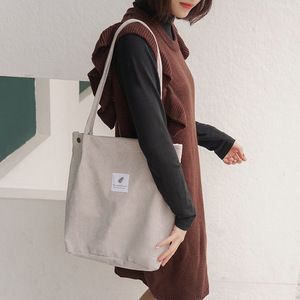 Image 3 - Ougger kadın omuz çantaları çanta yüksek kaliteli gri kadife çile büyük kapasiteli moda İngiltere tarzı alışveriş kova çantası